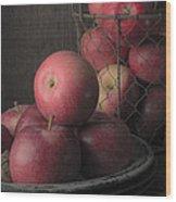 Sun Warmed Apples Still Life Wood Print