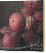 Sun Warmed Apples Still Life Square Wood Print