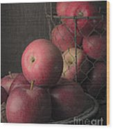 Sun Warmed Apples Still Life Standard Sizes Wood Print