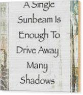 Sunbeam In The Piazza Wood Print