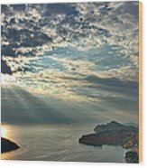 Sunbeams On Dubrovnik Wood Print
