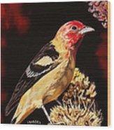 Sunbright Songbird Wood Print