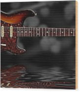 Sunburst Blues Wood Print