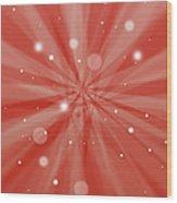 Sunburst Snow Red Wood Print