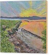 Sunburst Sun Wood Print by Leo Gehrtz