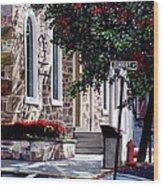 Sunbury Street Wood Print