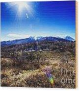 Sundance Aspen Loop-moutain Ranges V2 Wood Print