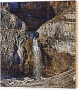 Sundance Aspen Waterfall Wood Print