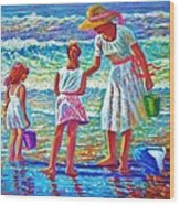 Sunday Afternoon At The Beach Wood Print