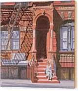 Sunday Afternoon East 7th Street Lower East Side Nyc Wood Print