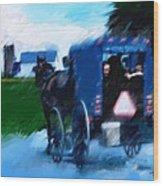 Sunday Buggy Ride Wood Print