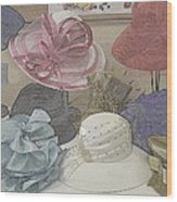 Sunday Hats For Sale Wood Print