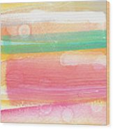 Sunday In The Park- Contemporary Abstract Painting Wood Print