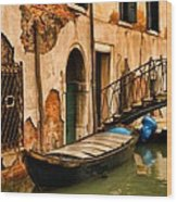 Sunday In Venice Wood Print
