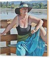 Sunday Lakeside  Wood Print