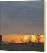 Sunday Late Fall Sunset Wood Print