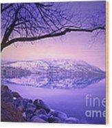 Sunday Morning At Okanagan Lake Wood Print