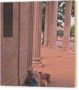 Sunday Mourning At Denver Civic Centre Wood Print