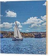 Sunday Sail Wood Print