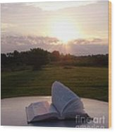 Sunday Sunrise Bible Study Wood Print