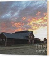Fire In The Sky Sunday Wood Print