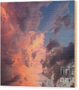 Sunday Sunset Wood Print