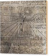 Sundial With Les Miz Wood Print