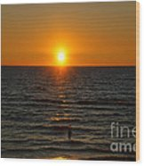 Sundown Admiration Wood Print