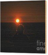 Sundown Alone Wood Print