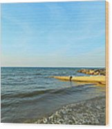 Sundown At Lake Erie  Wood Print