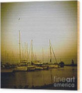 Sundown By The Lake Wood Print