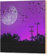 Sundown Fantasy - Violet Wood Print