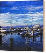 Sundown In Sag Harbor Wood Print