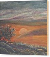 Sundown In Vail Az Wood Print