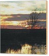 Sundown Lacassine Nwr Wood Print