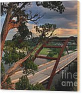 Sundown On Pennybacker 360 Wood Print
