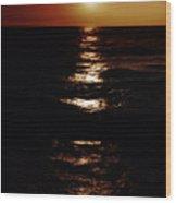 Sundown Reflections On Lake Michigan 02 Wood Print