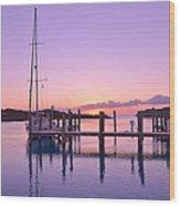 Sundown Serenity Wood Print