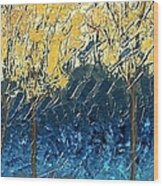 Sundrenched Trees Wood Print