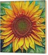 Sunflower - Paint Edition Wood Print