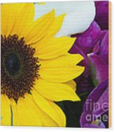 Sunflower And Company Wood Print