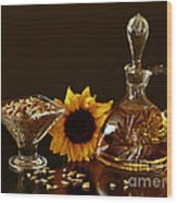 Sunflower And Crystal Wood Print