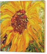 Sunflower Wood Print by Barbara Pirkle