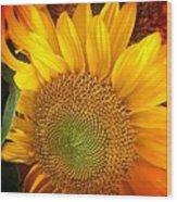 Sunflower Bright Wood Print