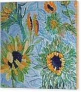 Sunflower Cycle Of Life 1 Wood Print by Vicky Tarcau