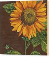 Sunflower Wood Print by Diane Ferron