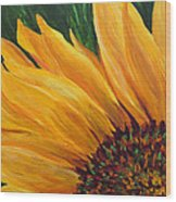 Sunflower From Summer Wood Print