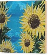 Sunflower Fun Wood Print