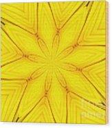 Sunflower Kaleidoscope 1 Wood Print