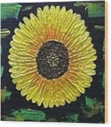 Sunflower Wood Print by Kat Poon